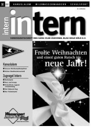 Geburts- tage… - Kanu Club Zugvogel Köln