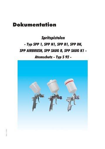 Dokumentation - Spritzpistolen - Typ SPP 1, SPP N1, SPP B1, SPP ...