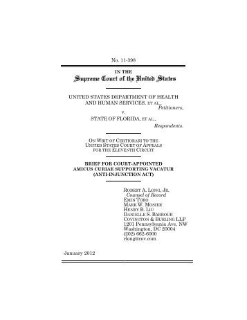 Brief for Court-Appointed Amicus Curiae Supporting Vacatur