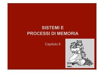 memoria a lungo termine - Lettere e Filosofia