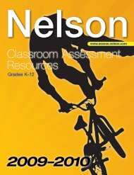 Classroom Assessment Resources - Assessment - Nelson Education