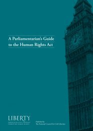 A Parliamentarian's Guide to the Human Rights Act - Liberty