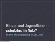 Ludwig Windthorst Haus 14.Dez. 2010 - Kath.de