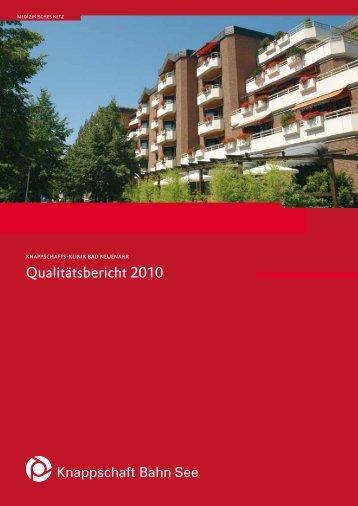 Qualitätsbericht 2010 (PDF/1 MB) - Knappschaft-Bahn-See