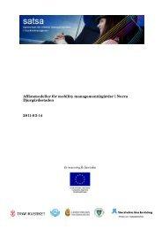 Affärsmodeller för mobility managementåtgärder i Norra ...