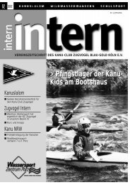 Intern 2/02 (Page 1) - Kanu Club Zugvogel Köln