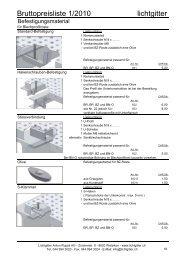 Befestigungsmaterial - Lichtgitter Anton Ruppli AG