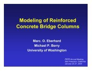 Modeling of Reinforced Concrete Bridge Columns - PEER
