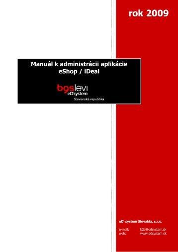 stiahnuť manuál k B2C shopu - eD system Slovakia, sro