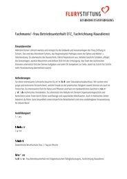 Fachfrau oder Fachmann EFZ Hausdienst - Flury Stiftung