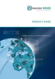 Keynote SIGOS Product Guide