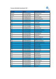 Seznam obchodních zástupců.