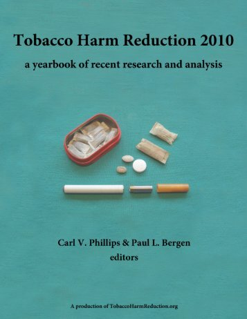 Tobacco Harm Reduction 2010 - WhyQuit