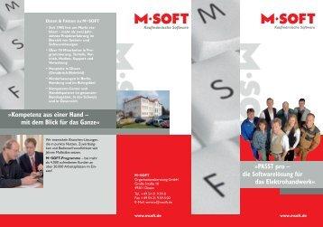 Kompetenz aus einer Hand – mit dem Blick für ... - M-SOFT Hamburg