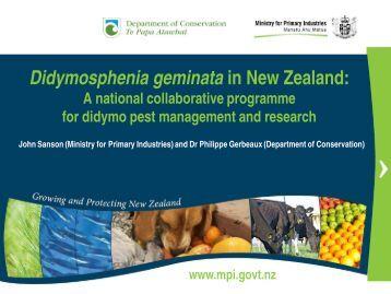 Sanson and Gerbeaux - Invasive Species Action Network