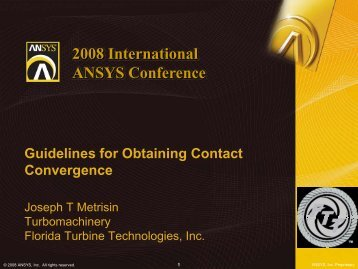 Guidelines for Obtaining Contact Convergence