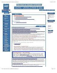 Test Registration – TEA ID Number