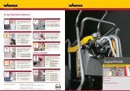 SuperFinish 31 Airless op wagen brochure - Wagner