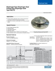 Flange-Type Diaphragm Seal Type 990.FR - WIKA
