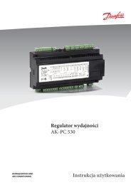 Regulator wydajności sprężarek i skraplaczy AK-PC 530