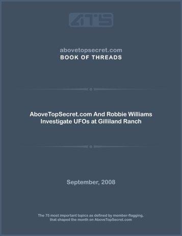 AboveTopSecret.com And Robbie Williams Investigate UFOs at ...
