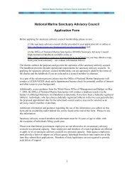 Sanctuary Advisory Council Application - Stellwagen Bank National ...