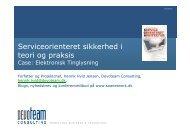 Sikkerhed i teori og praksis e-TL Dansk IT januar ... - SOA Network