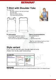 T-shirt with shoulder yoke - My Label 3D Fashion Pattern Software