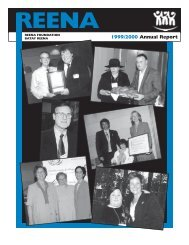 REENA 1999/2000 Annual Report 1999/2000 Annual Report