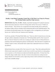 Press Release - Bradley Arant Boult Cummings LLP