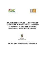 Balanza Comercial de la Industria de Autopartes de Nuevo León de ...