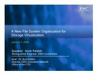 A New File System Organization for Storage Virtualization - EMC ...