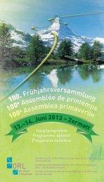 Hauptprogramm - Schweizerischen Gesellschaft für Oto-Rhino ...