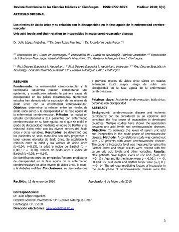 3 Revista Electrónica de las Ciencias Médicas en ... - SciELO