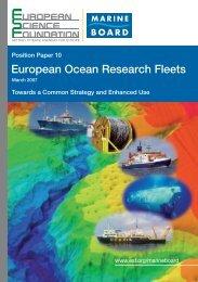 European Ocean Research Fleets - European Science Foundation