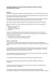 EUROPEAN CHARTER OF THE RIGHTS AND FREEDOMS ... - EDE