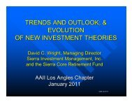 Investment Trends and 2011 Outlook; The Evolution of ... - AAII-LA
