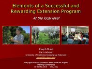 Elements of a Successful and Rewarding Extension Program