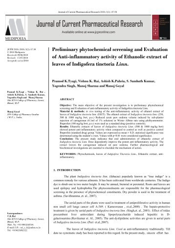 phytochemical screening of talahib Phytochemical screenings in preliminary phytochemical screening, the methanol extract of averrhoa bilimbi demonstrated the presence of.
