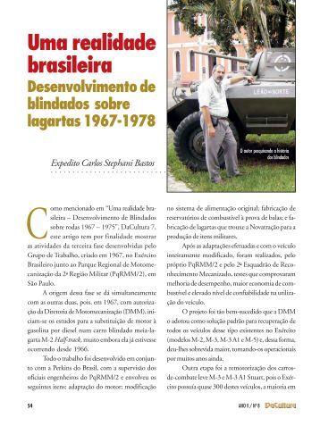 Uma realidade brasileira Desenvolvimento de blindados ... - FunCEB
