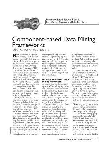 Component-based Data Mining Frameworks - Fernando Berzal