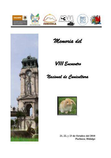 Memoria VIII Encuentro Nacional de Cunicultura