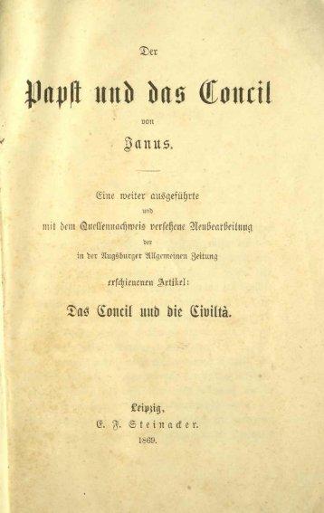 Ignaz von Döllinger, Der Papst und das Konzil