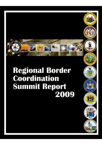 2009 Border Coordination Workshop Report - Hazards Consortium