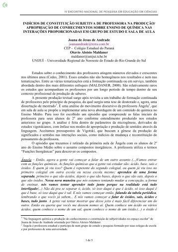 indícios de constituição subjetiva de professora ... - Axpfep1.if.usp.br