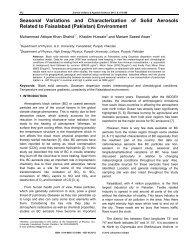 Seasonal Variations and Characterization of Solid Aerosols Related ...