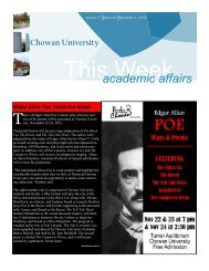 Nov. 1, 2013 Issue - Chowan University