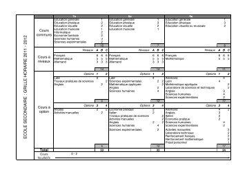 Grille horaire 2011-2012 les Franches-Montagnes - Ecoles-du-Jura.ch