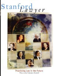 Fall 2001 – Issue 61 - Stanford Lawyer - Stanford University