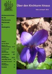 Kirchennachrichten März-April 13 Pfarrbereiche Bleicherode ...